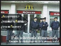 Pola soberanía alimentaria. Escontra la criminalización de la protesta social.