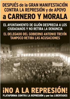 """""""Es un honor ir a la cárcel por defender el puesto de trabajo"""" afirman Morala y Carnero"""