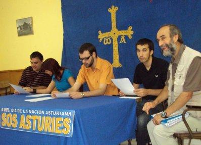 Rueda de prensa de presentación de la campaña SOS Asturies
